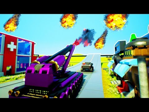FLAK CANNON SHOOTS DOWN METEOR SWARM! Save The City Challenge - Brick Rigs Challenge Gameplay