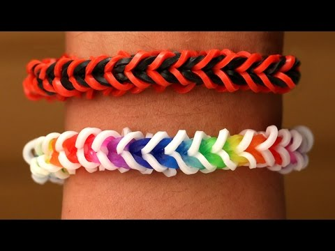Rainbow Loom English - SPINELET - Loom Bands, easy, how to, DIY