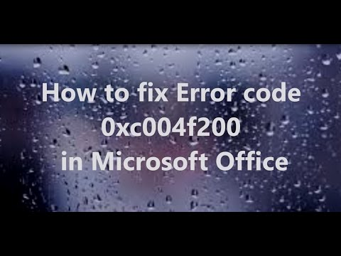 How To Fix Microsoft Office 365/ 2010/ 2013 And Error code 0x4004f00c Fix Video tutorial