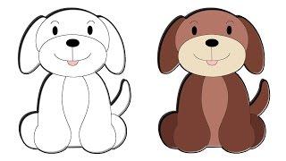 #x202b;تعلم  طريقة رسم كلب كيوت#x202c;lrm;
