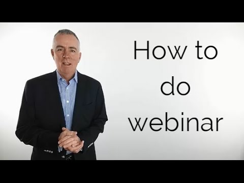 How to do a webinar in 8 steps