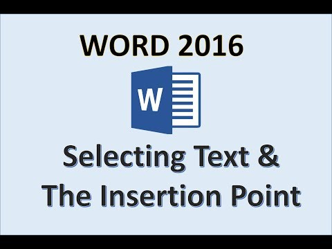 Word 2016 - Select Text And Move The Insertion Point