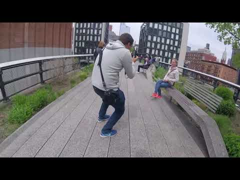 Walking New York City's High Line: Chelsea to Hudson Yards - Normal Speed