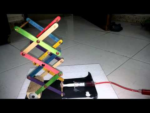 make a scissor lift with household items