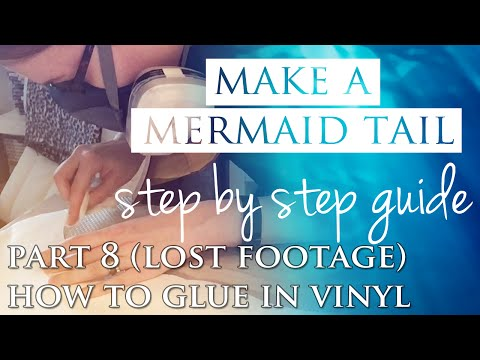 HOW TO MAKE A MERMAID TAIL - How to Glue in Vinyl Fringe
