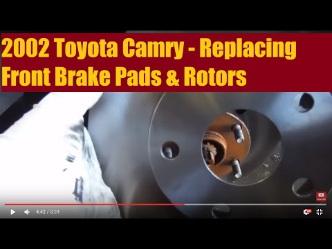2002 Toyota Camry  Replacing Front Brake Pads & Rotors