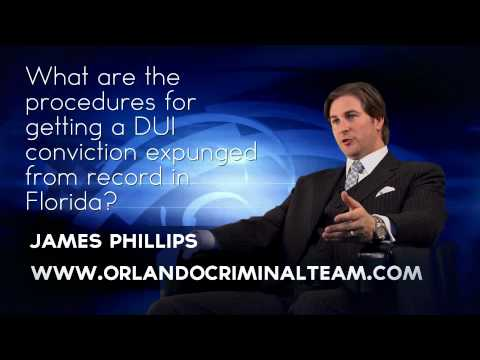 What are the procedures for getting a DUI conviction expunged from record in Florida?