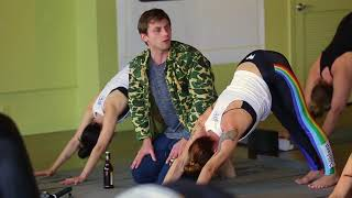 Manitowoc Minute star Charlie Berens takes a yoga class