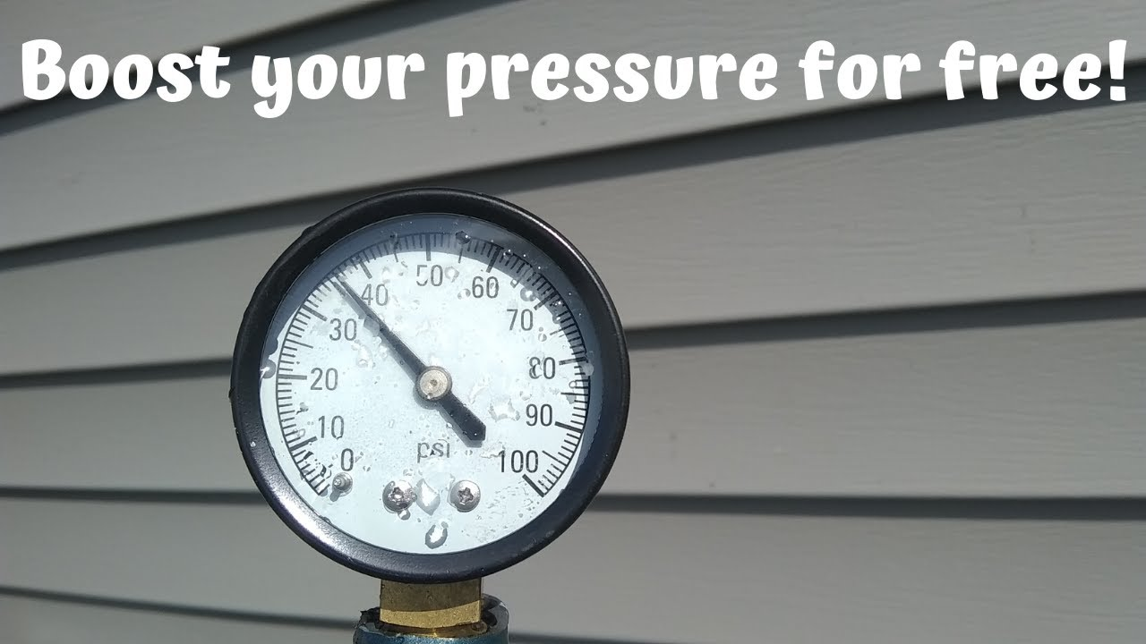 How to double your water pressure for free!!!