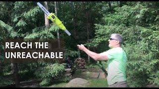 Sun Joe Electric Multi-Angle Telescopic Pole Chain Saw with