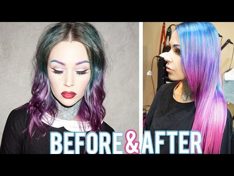 From Dark Hair to Light, Pastel Hair with Tape-In Extensions| KristenLeanneStyle