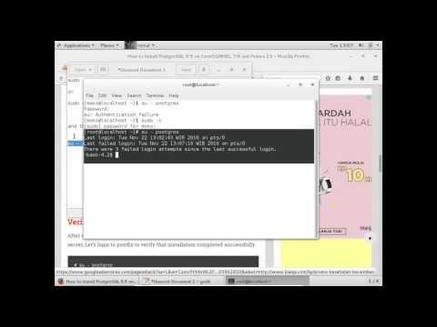 Centos7 : su - postgres Authentication failure
