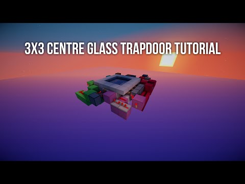 TUTORIAL: 3x3 Centre Glass Trapdoor [Fast | Compact | Fully Synced]