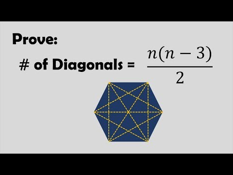 Prove: Number of Diagonals of a Polygon