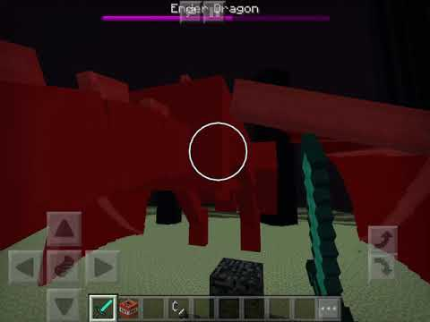 DEFEATING THE ENDER DRAGON MINECRAFT PE!!!!
