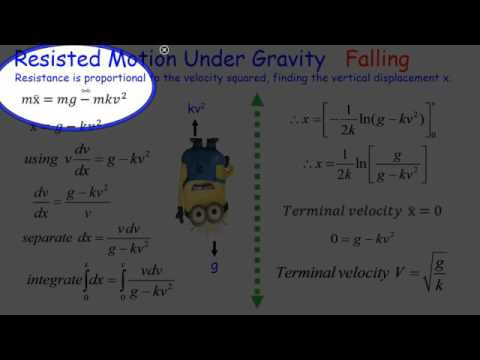 Mechanics: Resisted motion under gravity, falling