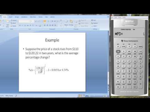 Percentage Change on the TI BA II Plus Calculator