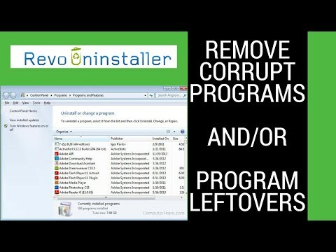 How To Remove Corrupt Programs And Leftovers