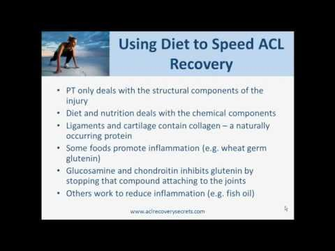 Using Diet to Reduce Inflammation After ACL Surgery