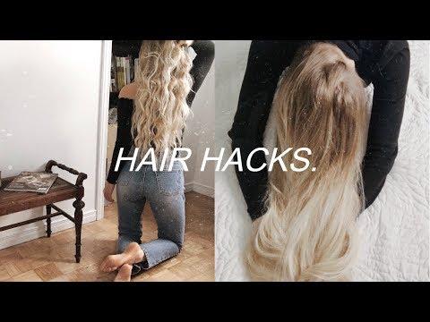 HAIR HACKS FOR FINE AND THIN HAIR   get long hair fast