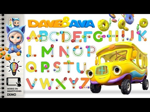 Write Letters A- Z Alphabets with Dave and Ava App for Kids