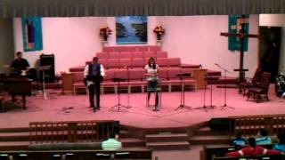 Kristy sings at Glorieta Baptist Church