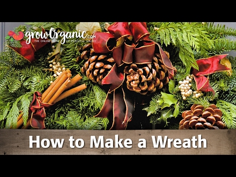 How To Make a Festive, Holiday, Wreath