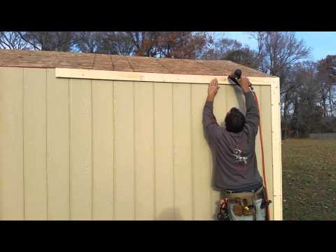 8x12x8 A Frame Shed Tutorial Part 26 Installing The Corner Board Trim