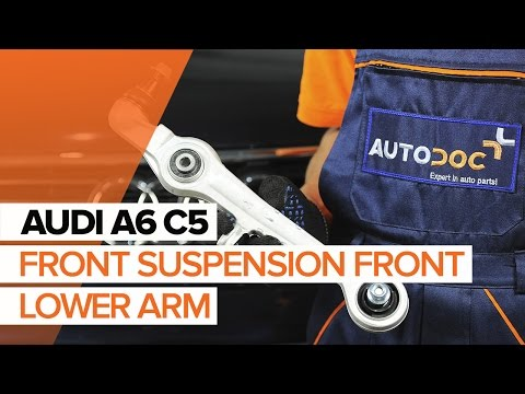 How to replace front suspension front lower arm onAUDI A6 C5TUTORIAL   AUTODOC