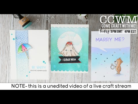 CCWM Live Stream - Full look at the new Heffy Doodle release and making some cards!