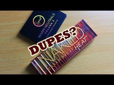 Urban Decay Naked Heat VS Sigma Warm Neutrals Vol 2 | Swatches | MakeupAndArtFreak