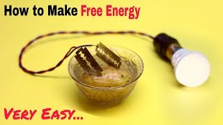 How to Make a Free Energy Electric Generator   Easy Science Project