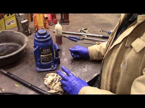 Repair of Hydraulic Jack Pumping Air
