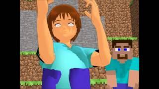MMD Steve and Herobrine - MineGrumps (Magic Mike Fingers)