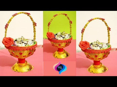 Easy Best Out of Waste Craft Idea From Plastic Pot - Handmade Basket Step by Step