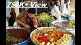 Pakistani Street Food | Peshawari Nashta | Goat Paya |  Peshawari Paya | Pakistani Street Food