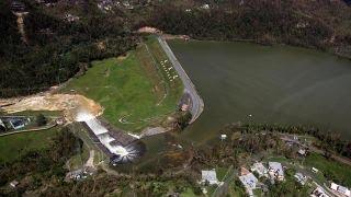 Repair efforts under way on damaged dam in Puerto Rico