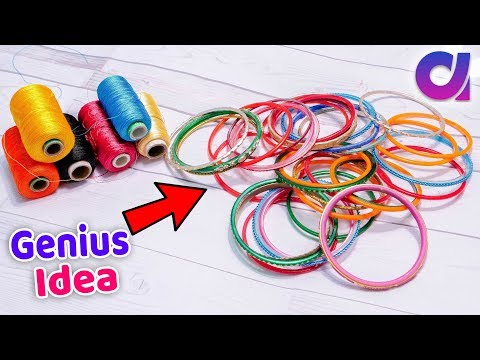 How to reuse old bangles to make earrings | best out of waste | Artkala 527