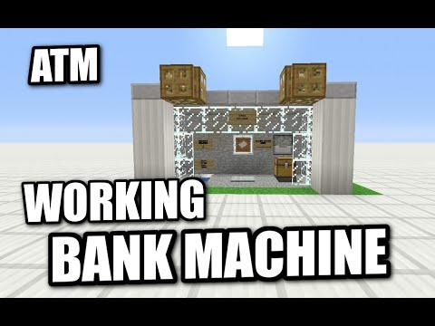 Minecraft - WORKING ATM - BANK MACHINE - Tutorial ( PE / XBOX / PS3 / WII U )