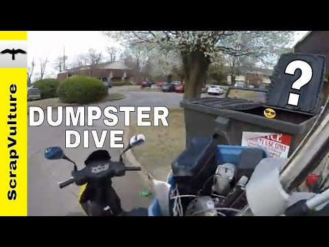 REAL TIME - How to Make $90 in an Hour Dumpster Diving for Treasure & Scrap Metal