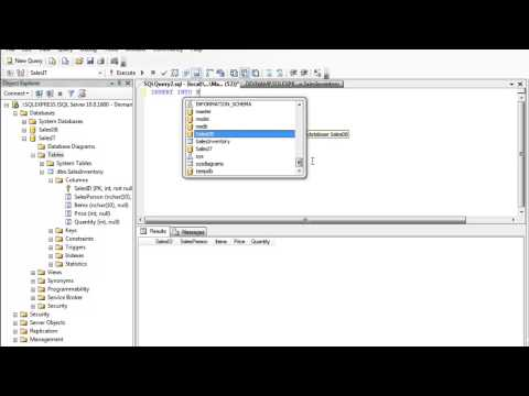 MS SQL Server Management Studio - Insert Update Delete Query Tutorial