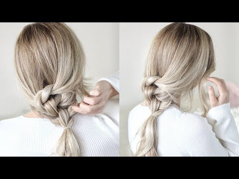 HOW TO: Easy Knotted Ponytail Tutorial