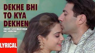"""Dekhe Bhi To Kya Dekhen"" Lyrical Video | Farz | Preity Zinta, Sunny Deol"