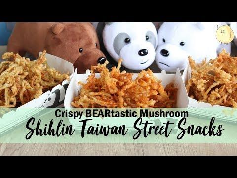 Shihlin Taiwan Street Snacks – Crispy BEARtastic Mushroom, And Get We Bare Bears Tote Bags