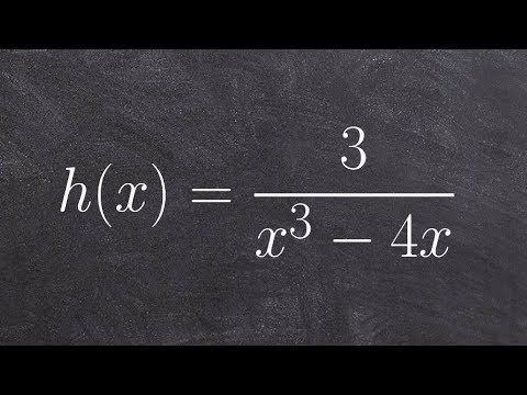 Learn how to graph a rational expression with symmetry about the origin