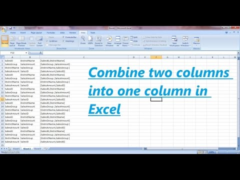 How To Merge Multiple Columns data In Excel