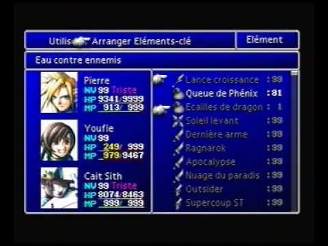 Final Fantasy 7 - More-than-perfect Party - Item duplication (Throw method)