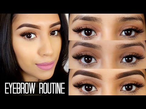 My Full Eyebrow Routine  Shaping,Threading,& Filling them ft. Anastasia Dip Brow Pomade