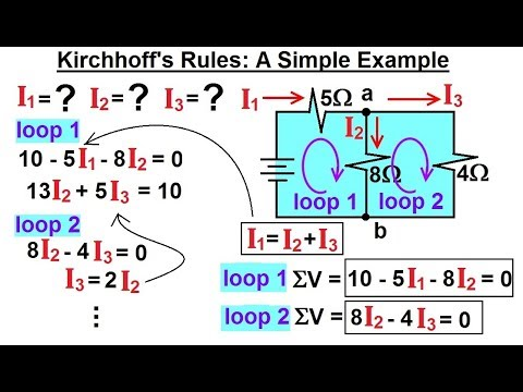 Physics - E&M: Ch 41.3 Ohm's Law & Resistor Circuit Understood (21 of 42) Kirchhoff's Rule: Ex. 1