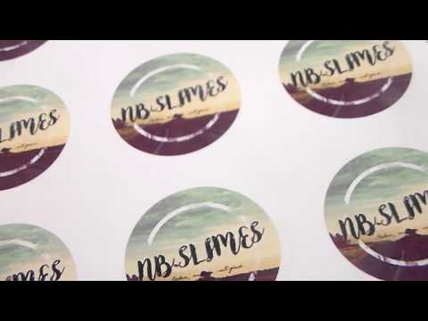 How to Make Slime Logo Stickers/Labels! For Slime Shop Packaging!